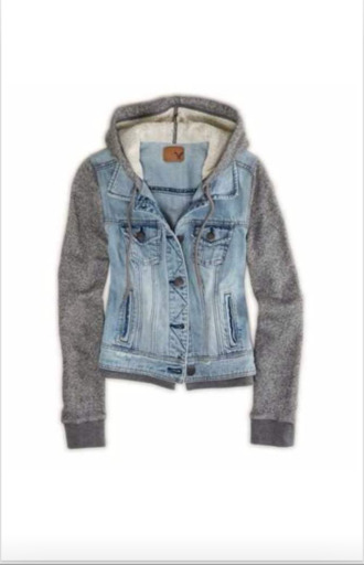 jacket denim jacket sleeves hoodie sweater denim denimhoodie warm jacket hoodie sleeves blue blue denim grey grey hoodie style fashion warm pinterest buttons button up pockets vest cute want!!!! jeans striped shirt jean jackets hooded denim jacket coat urban gray hoodie top grey sweater american eagle