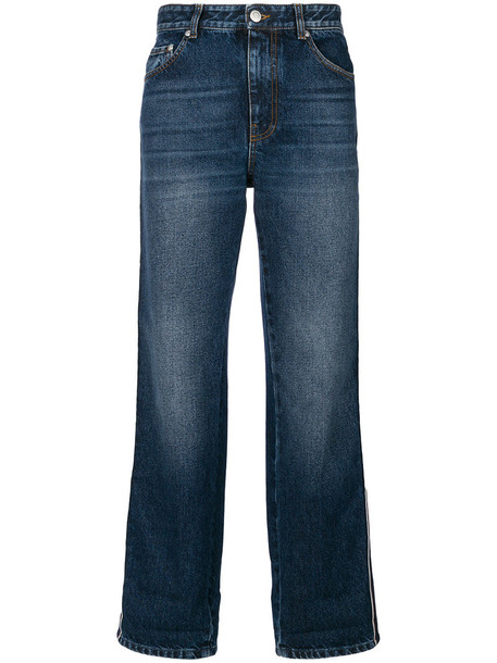 Alexander Mcqueen jeans cropped jeans cropped women cotton blue