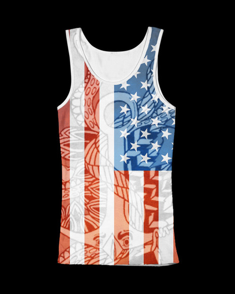usa flag t-shirt summer
