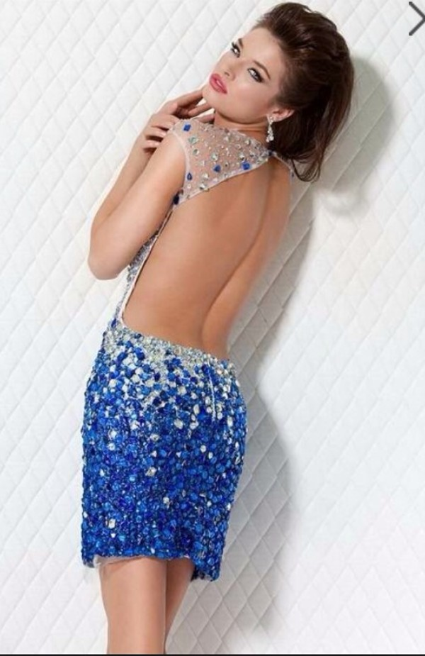 dress blue dress blue backless dress