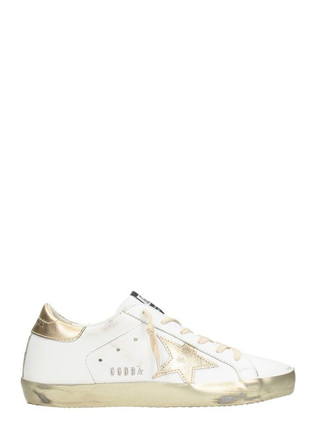 Golden goose sneakers. sneakers white sneakers gold leather white shoes