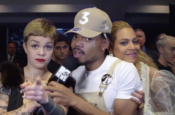 hat chance the rapper three beige white beyonce vma music rap