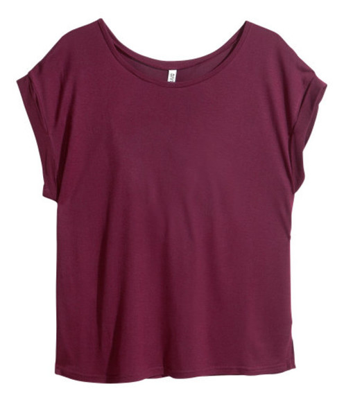 t-shirt loose fit magenta