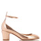 Tan-go leather pumps
