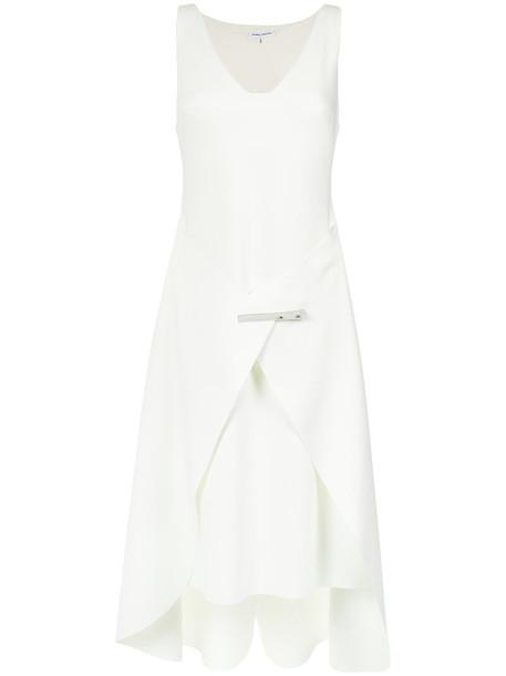Gloria Coelho dress women spandex layered white