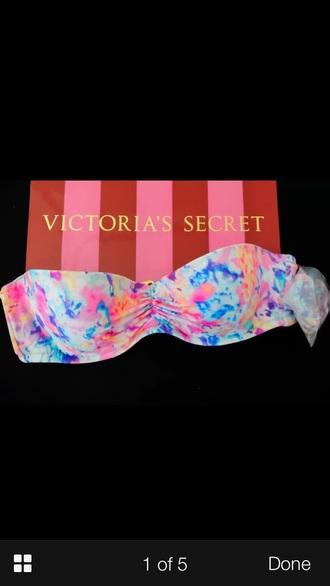 swimwear victoriassecret bikini floral cute summer bikinitop colourful bandeau