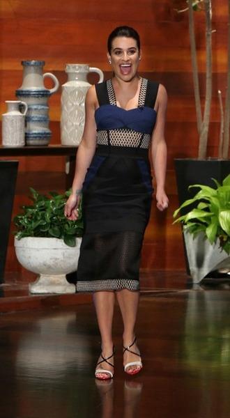 dress lea michele skirt colorblock midi dress mesh dress sandals lace dress bustier dress