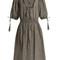 Paradiso gingham linen-blend dress