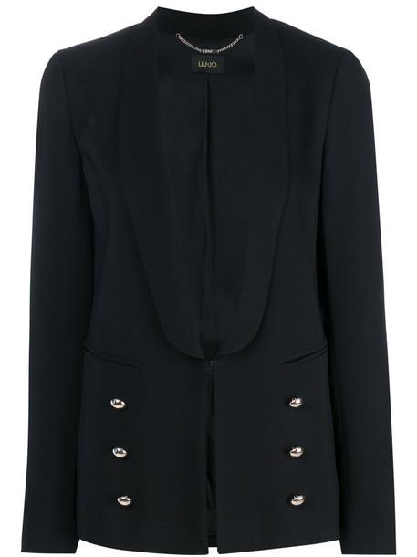 LIU JO blazer women classic spandex black jacket