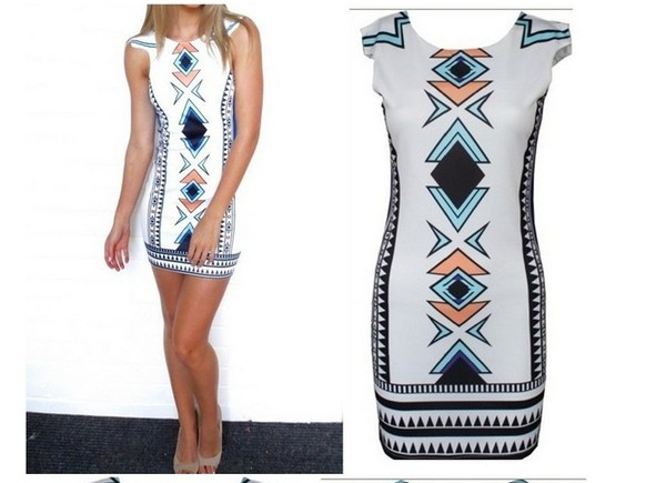 dress printed dress