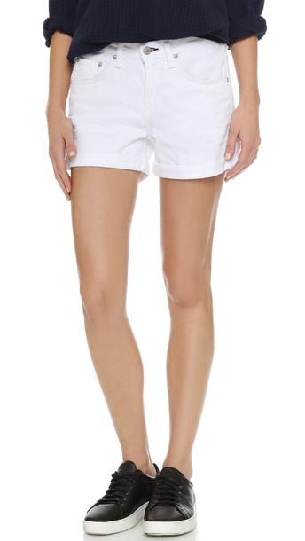 Rag & Bone/Jean The Boyfriend Shorts - Aged Bright White