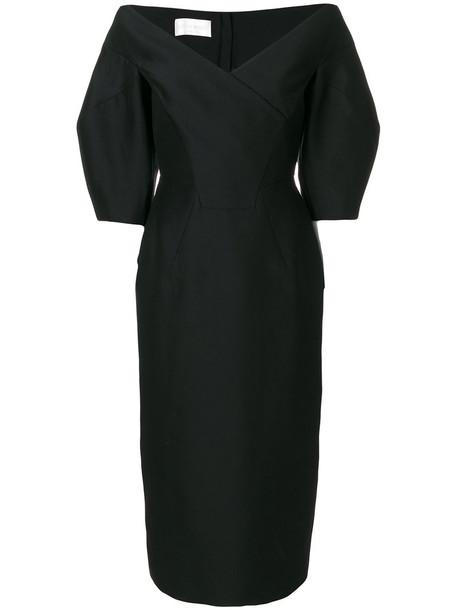 Alberta Ferretti dress pencil dress women cotton black silk wool