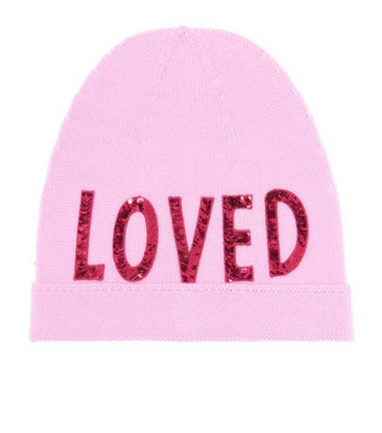 gucci beanie wool pink hat