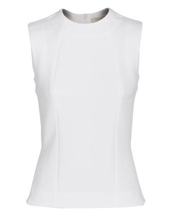 victoria beckham top victoria beckham side split shell white sleeveless top