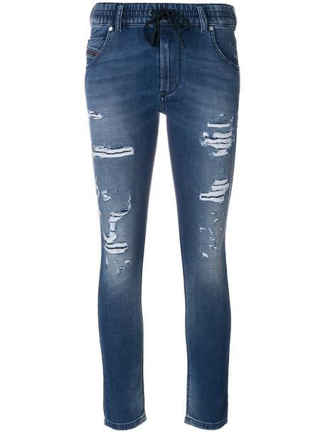 jeans women spandex 23 drawstring cotton blue