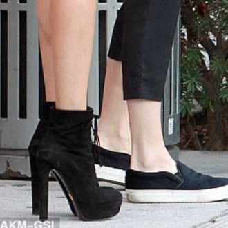 shoes hailey baldwn black boot heels kendall jenner platform lace up boots