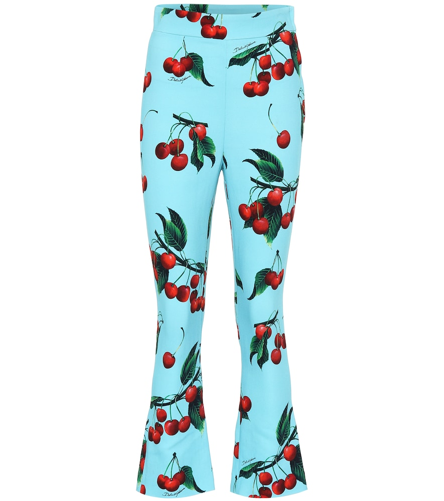 Exclusive to Mytheresa – cherry printed high-rise pants