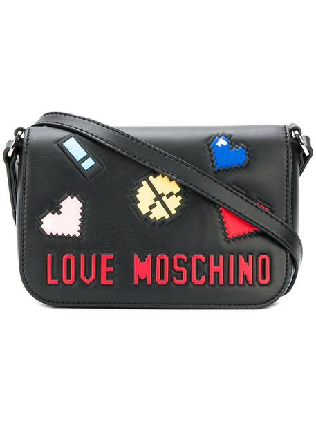 LOVE MOSCHINO mini women bag mini bag leather black