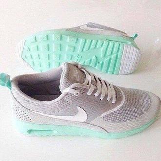 shoes nike air cute grey baby blue nike shoes