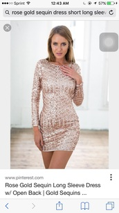 dress,rose gold,mini dress,long sleeves,geometric sequin party dress,sequins,sequin dress,geometric,gold,gold sequins,bodycon dress,bodycon