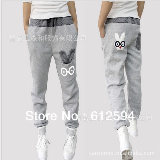 Hot! free shipping 2013 new women harem pants dot rabbit deco sports plus size trousers loose casual high quality for lady-in Pants & Capris from Apparel & Accessories on Aliexpress.com