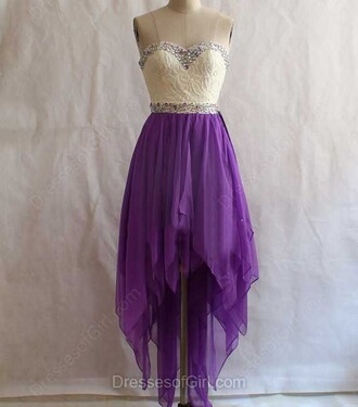 dress prom party asymmetrical evening dress fashion purple strapless dressofgirl