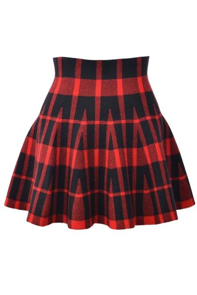 Plaid Pattern Mini Skirt - OASAP.com