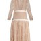 Long-sleeved plunging embroidered-tulle dress