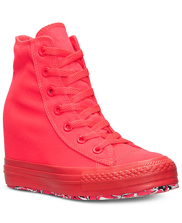 Converse Women's Chuck Taylor All Star Platform Plus Casual Sneakers from Finish Line - Kids Finish Line Athletic Shoes - Macy's