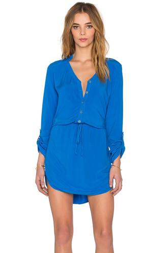 dress shirt dress mini blue