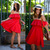 Endless Off-Shoulder Frilling Dress in Red - Retro, Indie and Unique Fashion