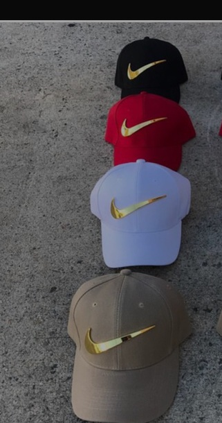 hat red white and black cap nike