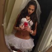 underwear,eleonore bridge,white,halloween costume,sexy,bitch,high knee,sexy halloween costume