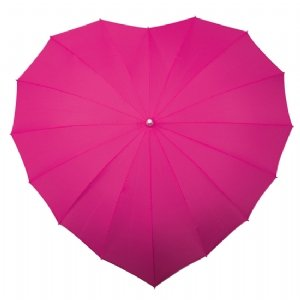 Heart Shaped Umbrella (Hot Pink): Amazon.co.uk: Toys & Games