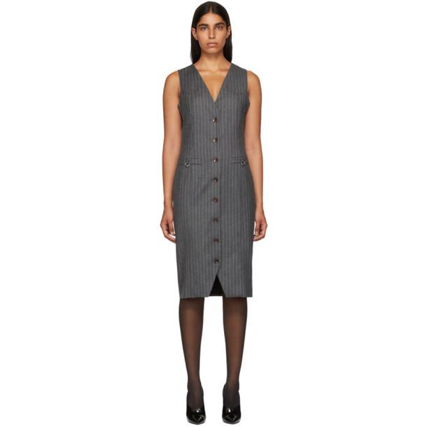 Altuzarra Grey Pinstripe Naomi Dress