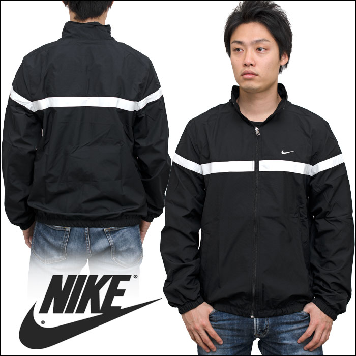 PLAYERZ | Rakuten Global Market: NIKE Nike apparel CLASSIC WOVEN JACKET クラシックナイロンジャケット / Windrunner windbreaker black x white line