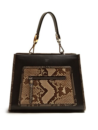python bag leather bag leather black