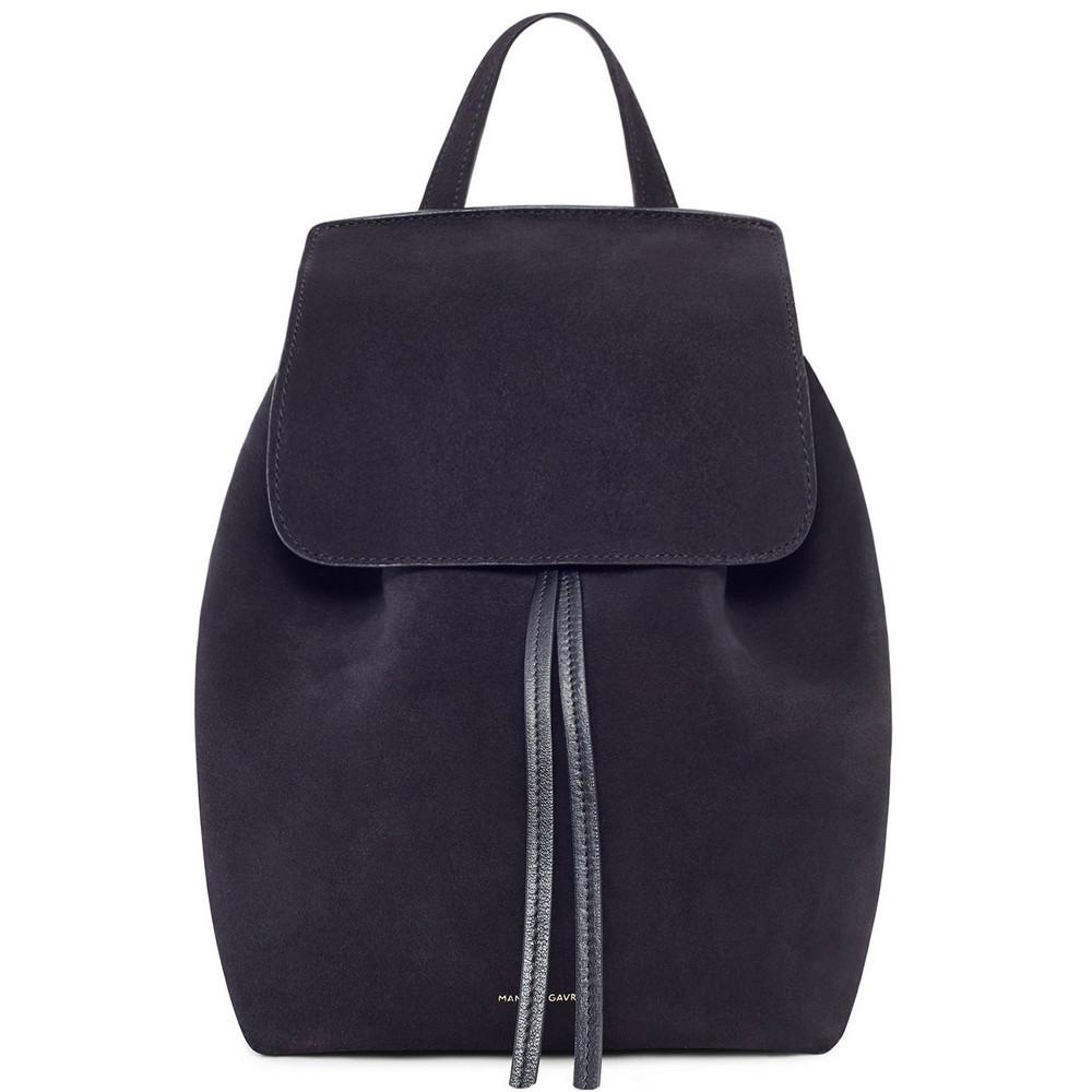 Mansur Gavriel Suede Mini Backpack - Black