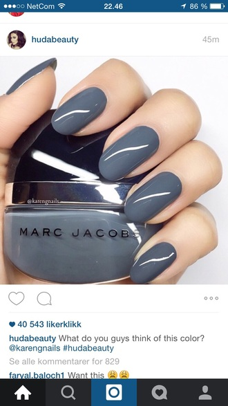 nail polish gray nail polish marc jacobs nail polish nails marc jacobs