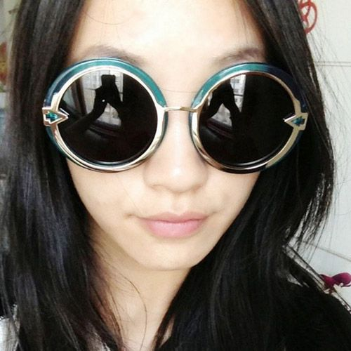 2013 New Retro Big Box Arrow Crystal Tide Style Sunglasses Fit For Men And Women - DualShine