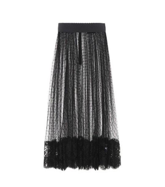 Dolce & Gabbana skirt mesh skirt mesh black