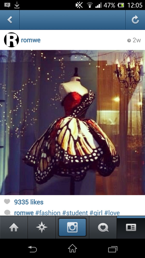 dress butterfly butterfly dress red red dress black and red prom dress robe bustier createur show fashion romwe