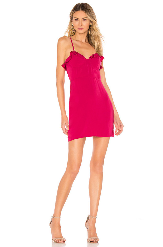 About Us Irene Ruffle Dress in pink