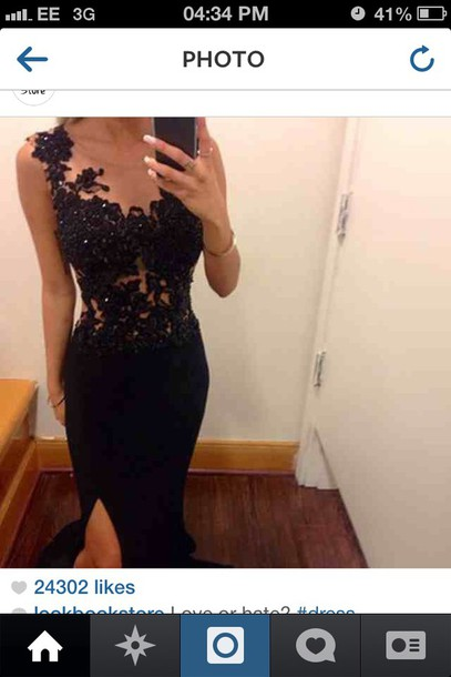 dress prom dress lace dress prom dress black dress sequin dress clothes tumblr long black prom dress lace top s black floor length dress pinterest prom black lace long beautiful gown