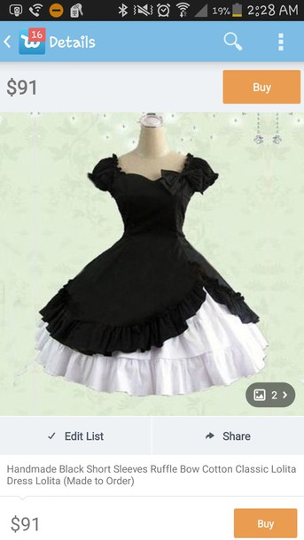 dress black dress short sleeve
