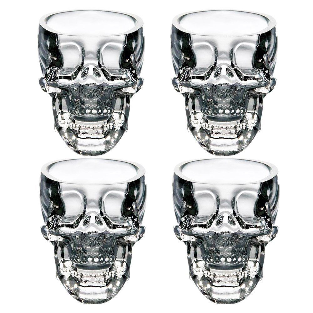 EASYTAR Crystal 3D Skull Pirate Shot Glass Drink Cocktail Beer Cup , Set Of 4 by EASYTAR: Amazon.ca: Home & Kitchen