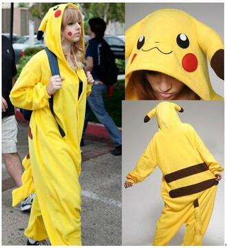 jacket one piece pikachu