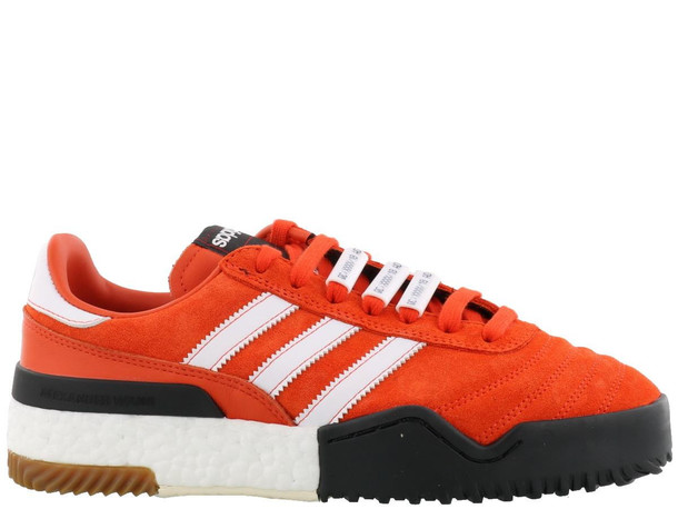 Adidas Originals By Alexander Wang Bball Soccer Sneaker in orange / white