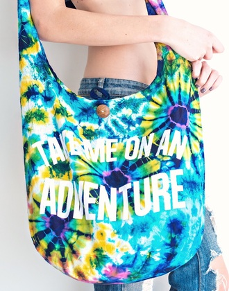 bag blue tie dye fashion trendy purse colorful style beach summer freevibrationz free vibrationz