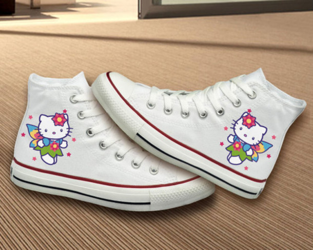 shoes converse hand painted birthday girly hello kitty hello kitty